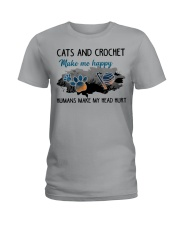 Cats And Crochet - Make Me happy PT Ladies T-Shirt thumbnail