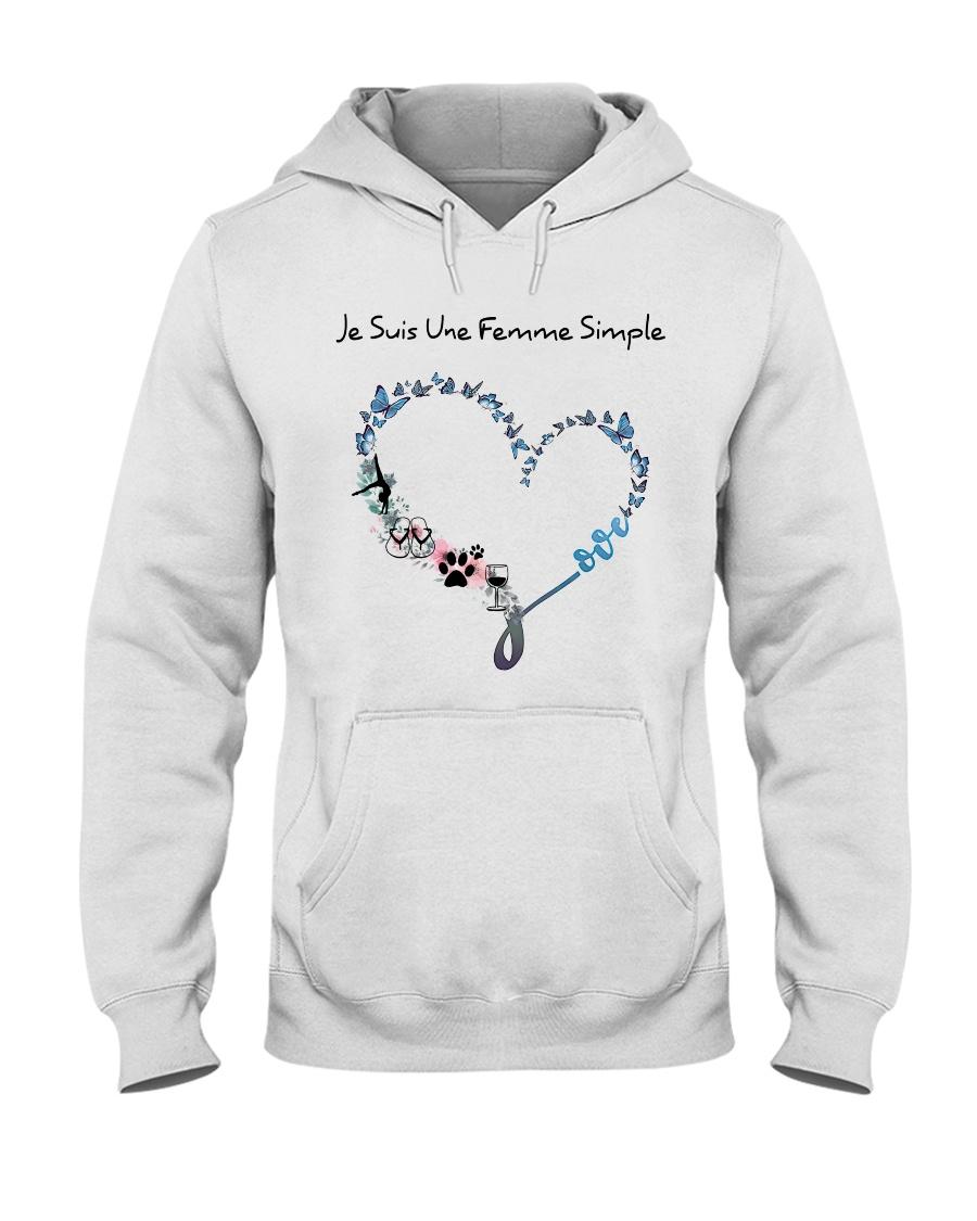 Femme Simple - Gymnastique Hooded Sweatshirt