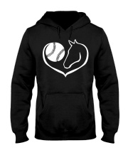 easily distracted by softball and horses PT Hooded Sweatshirt front