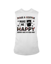 dogs and coffee make me happy Sleeveless Tee thumbnail