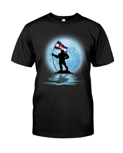 Bigfoot Moon Colorado Flag 0012