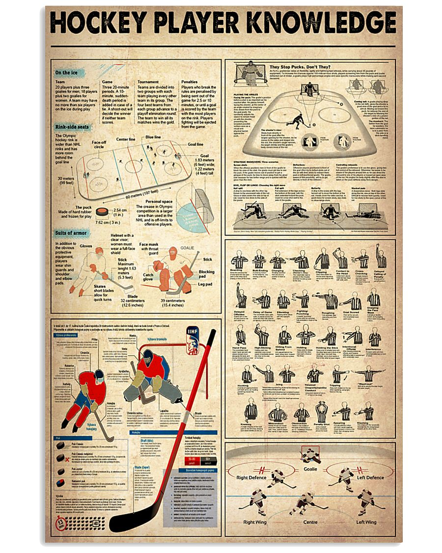 Hockey Player Knowledge 11x17 Poster