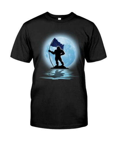 Bigfoot Moon Alaska Flag 0012