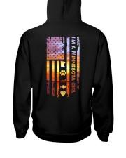 Minnesota USA Flag lake sun 23 PT Hooded Sweatshirt back