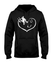 easily distracted by dragon boat and dog  Hooded Sweatshirt front