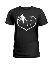 easily distracted by dragon boat and dog  Ladies T-Shirt thumbnail