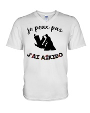 j'ai aikido V-Neck T-Shirt tile