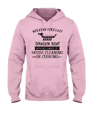 dragon boat-weekend forecast-cooking Hooded Sweatshirt front