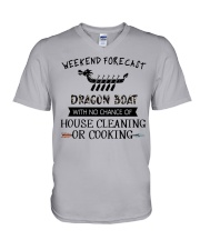 dragon boat-weekend forecast-cooking V-Neck T-Shirt thumbnail