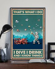 That's What I Do - I Dive I Drink Poster 0012 11x17 Poster lifestyle-poster-2