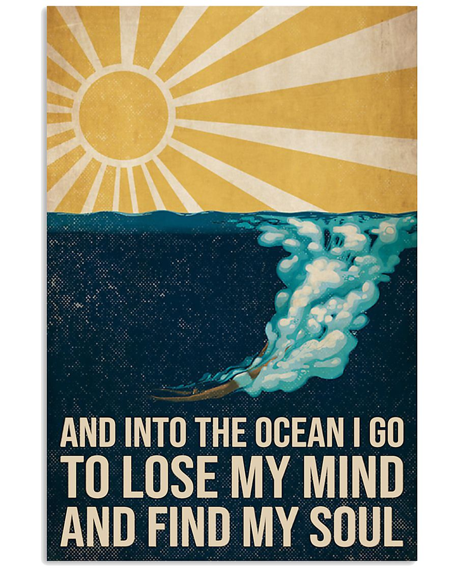 And Into the ocean I Go - Scuba Diving Poster 11x17 Poster