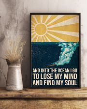 And Into the ocean I Go - Scuba Diving Poster 11x17 Poster lifestyle-poster-3