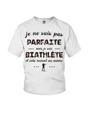 Biathlète - Je ne Suis Pas Parfaite Youth T-Shirt thumbnail