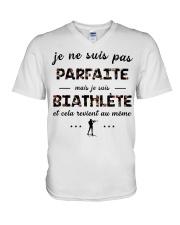 Biathlète - Je ne Suis Pas Parfaite V-Neck T-Shirt thumbnail