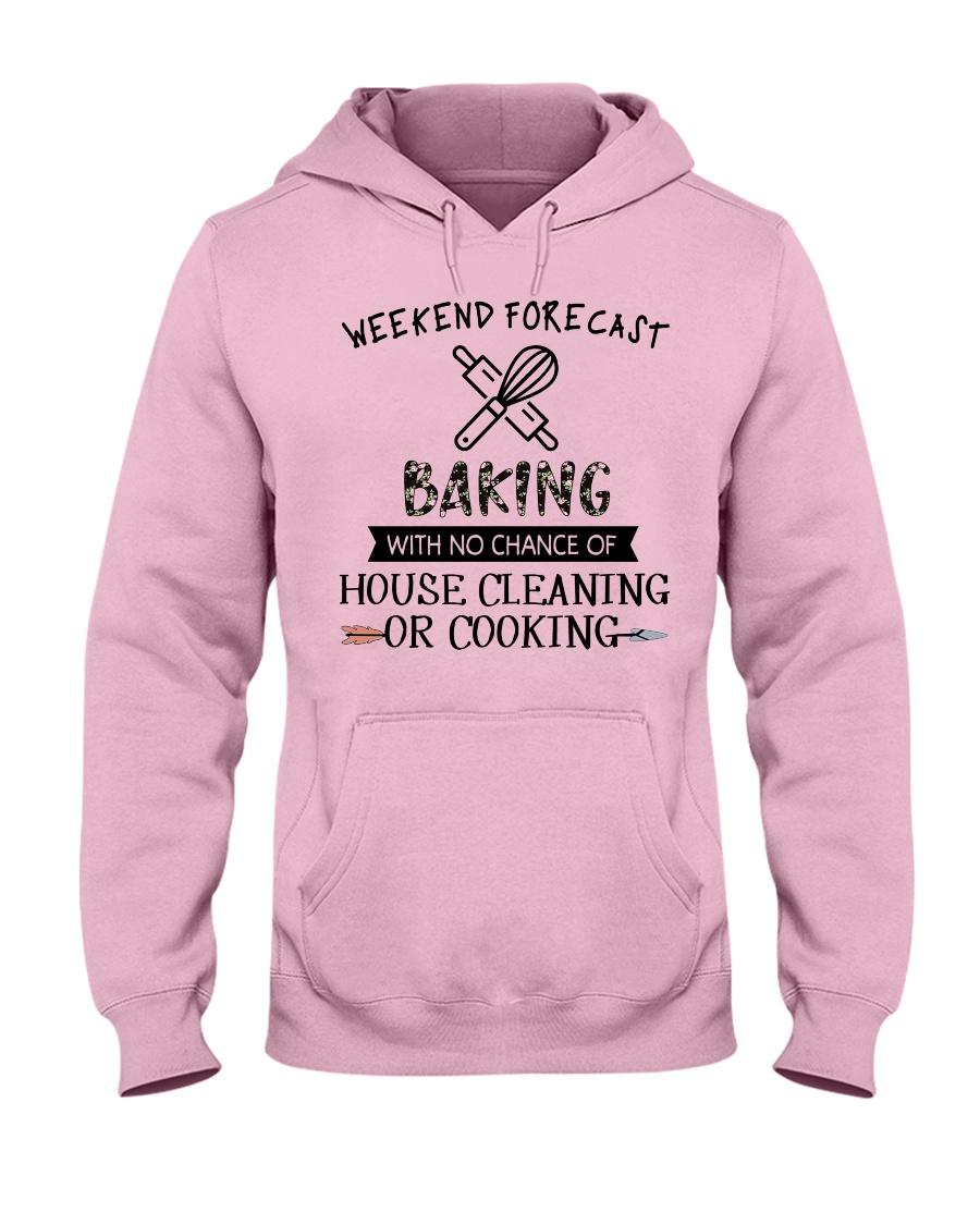 baking-weekend forecast-cooking Hooded Sweatshirt