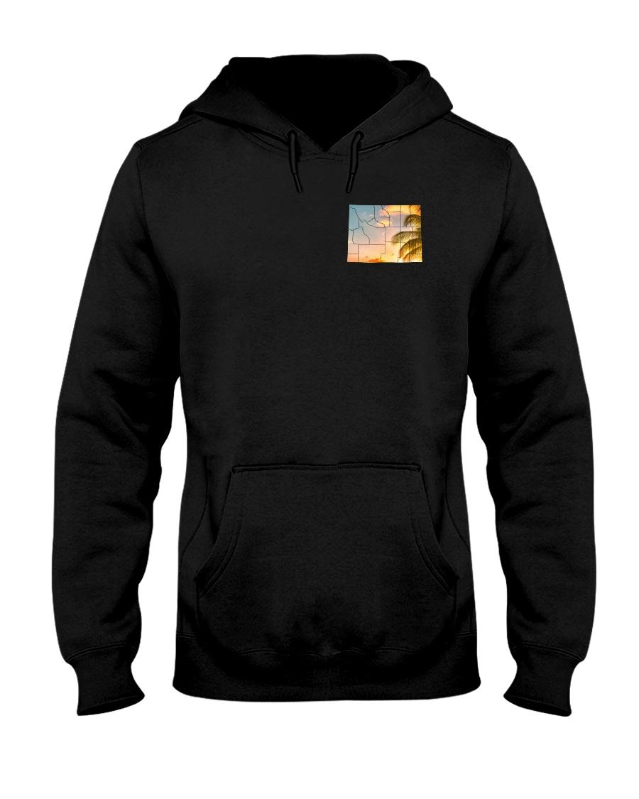 Wyoming USA Flag Hooded Sweatshirt
