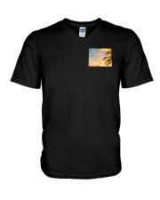 Wyoming USA Flag V-Neck T-Shirt thumbnail