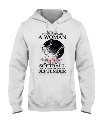 A woman loves softball and was born in September