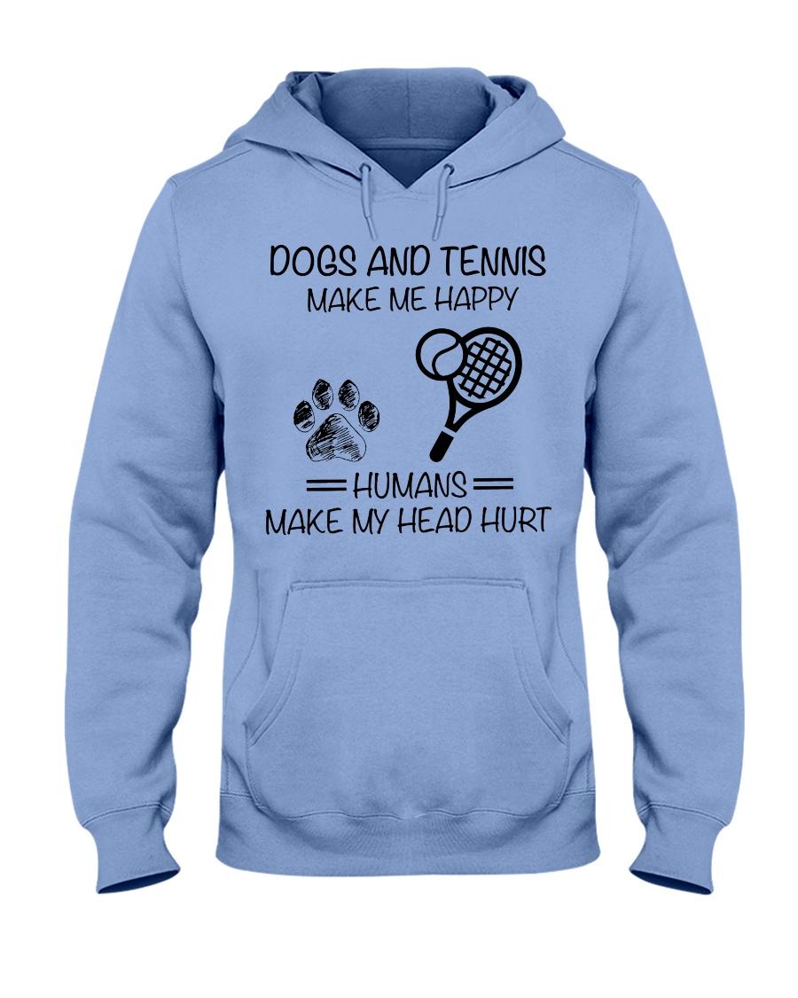 dogs-tennis make me happy Hooded Sweatshirt