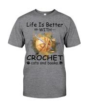 Life Is Better - Crochet Classic T-Shirt thumbnail