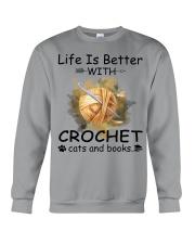 Life Is Better - Crochet Crewneck Sweatshirt thumbnail