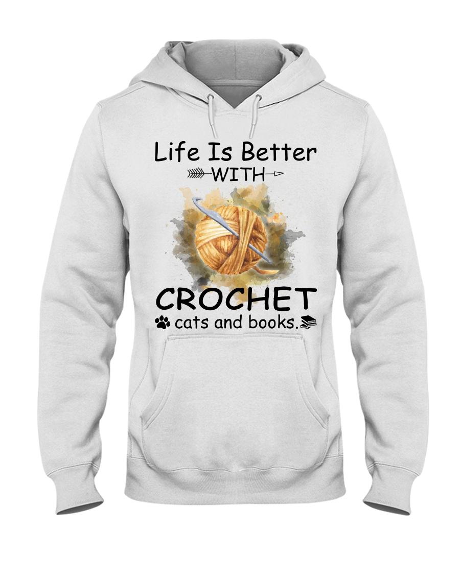 Life Is Better - Crochet Hooded Sweatshirt