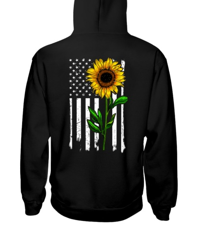 Sunflower USA flag 2 sides printed 0005