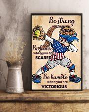 USA softball women poster 0042-9993-0000 11x17 Poster lifestyle-poster-3