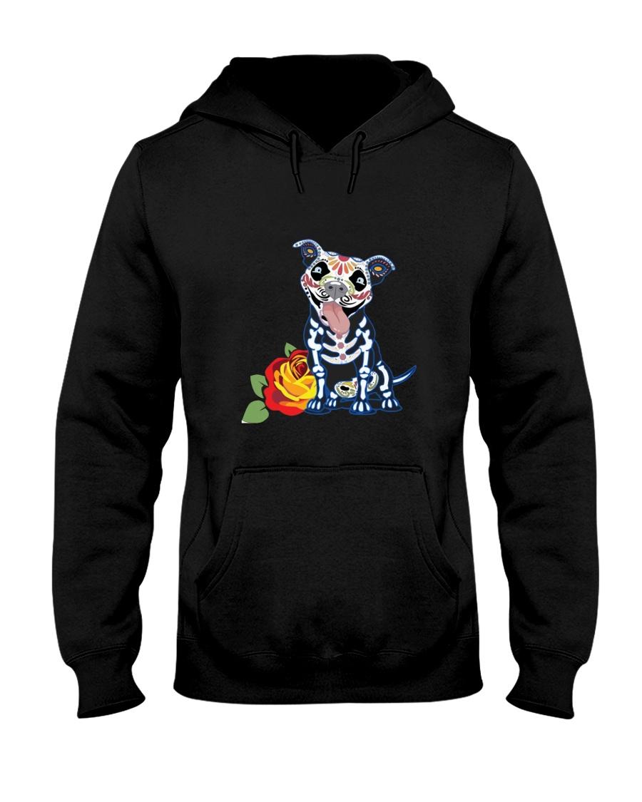 dog - pitbull tattoos Hooded Sweatshirt