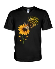 Dog - faith hope love V-Neck T-Shirt thumbnail