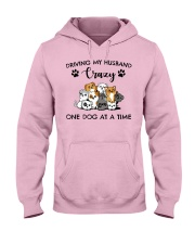 Dog - Driving my husband Hooded Sweatshirt front