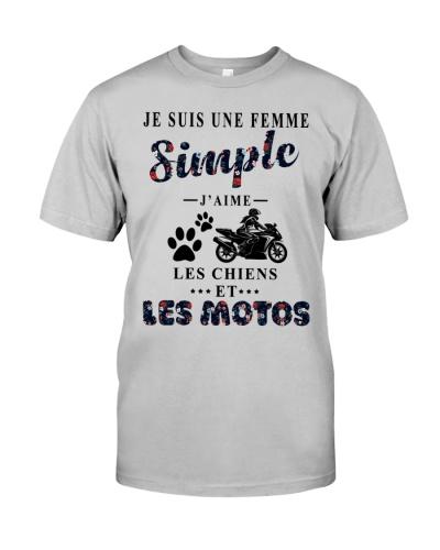 Motos chiens femme simple 0005