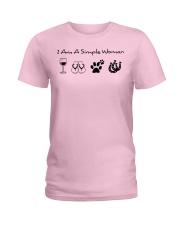 SIMPLE WOMAN HORSE Ladies T-Shirt thumbnail