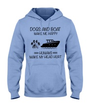 dogs-boat make me happy Hooded Sweatshirt front