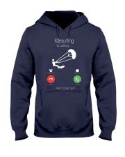 Kitesurfing calling 0000 Hooded Sweatshirt front