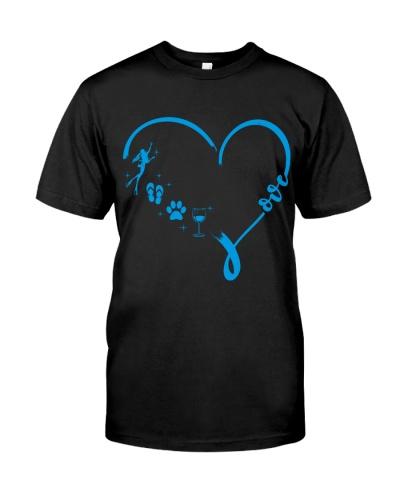 scuba diving Love Blue Heart
