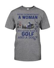 Never Underestimate A Woman - Golf Classic T-Shirt thumbnail