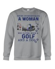 Never Underestimate A Woman - Golf Crewneck Sweatshirt thumbnail