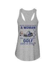 Never Underestimate A Woman - Golf Ladies Flowy Tank thumbnail