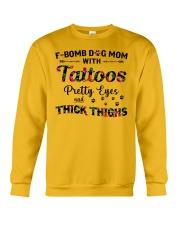 Dog - Fbom dog mom Crewneck Sweatshirt thumbnail