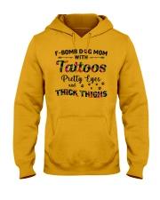 Dog - Fbom dog mom Hooded Sweatshirt thumbnail