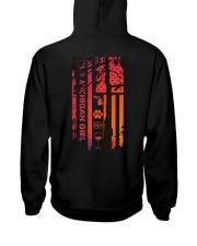 Michigan USA Flag sunset pine tree 4PT Hooded Sweatshirt back