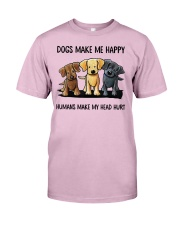 dog make me happy Classic T-Shirt thumbnail