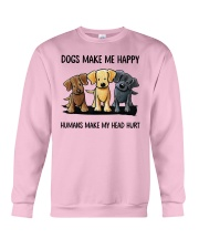 dog make me happy Crewneck Sweatshirt thumbnail