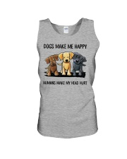 dog make me happy Unisex Tank thumbnail