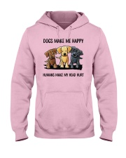 dog make me happy Hooded Sweatshirt front