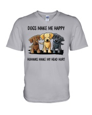 dog make me happy V-Neck T-Shirt thumbnail