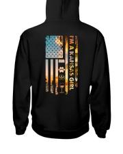 Kansas USA Flag Hooded Sweatshirt back