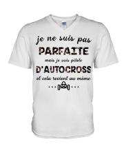 D'Autocross - Je ne Suis Pas Parfaite V-Neck T-Shirt thumbnail