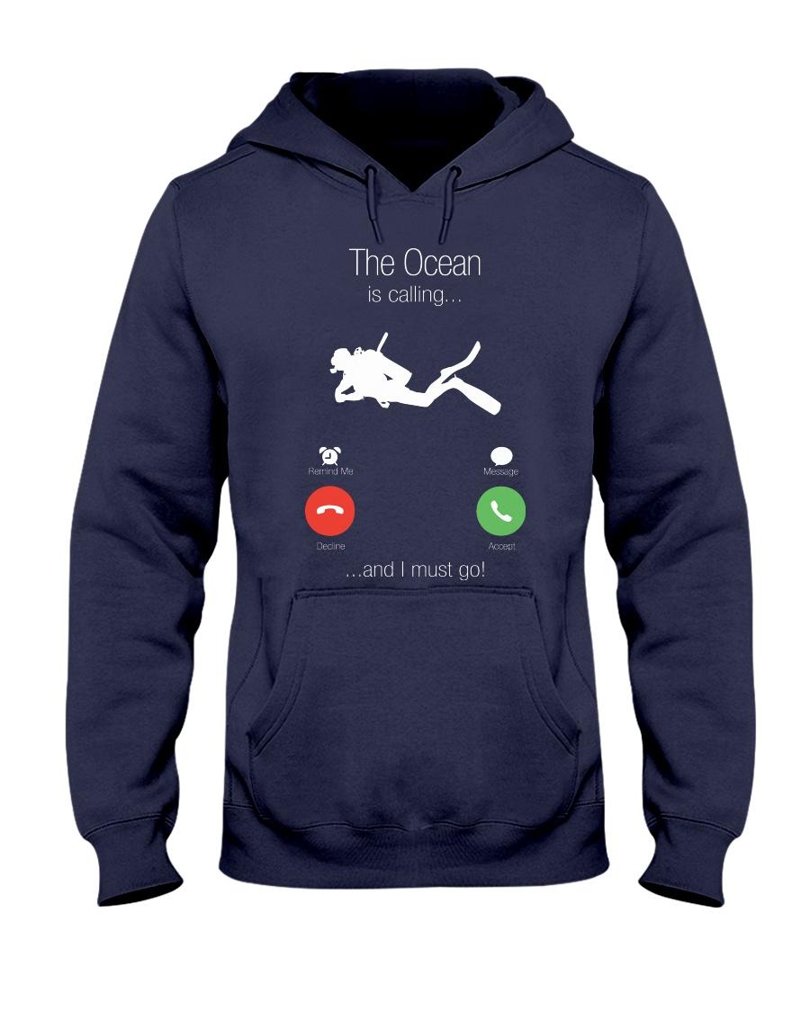 The ocean calling 0000 Hooded Sweatshirt